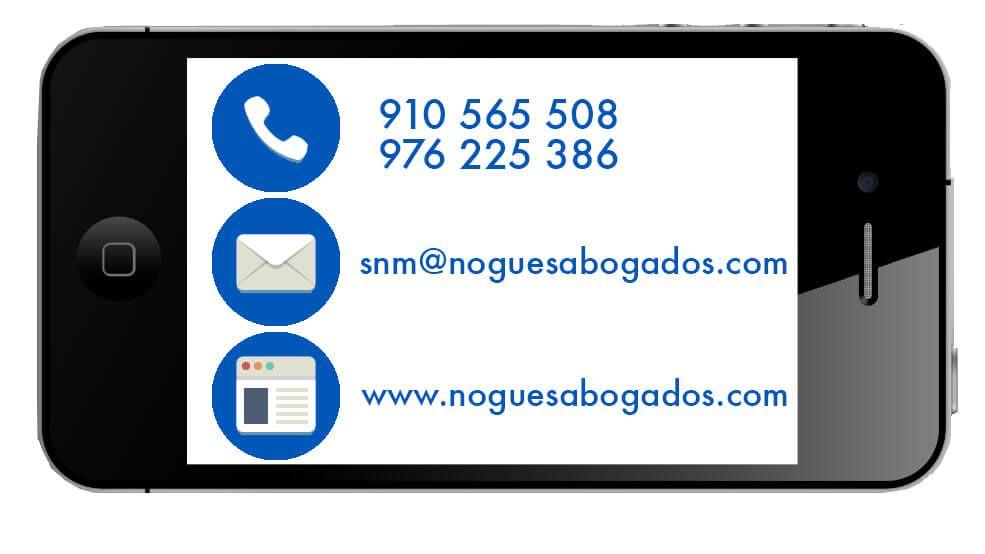 contacto Nogues Abogados Madrid y Zaragoza