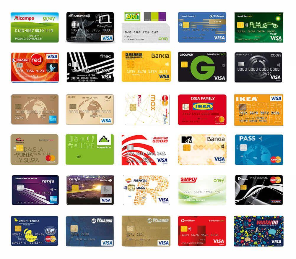 listado de tarjetas revolving