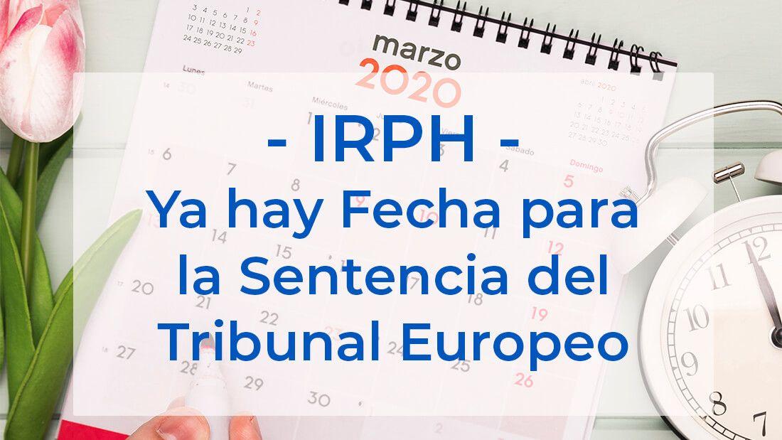 Sentencia sobre el IRPH